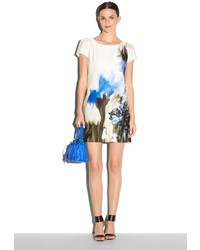 Milly Painted Floral Print Chloe Dress