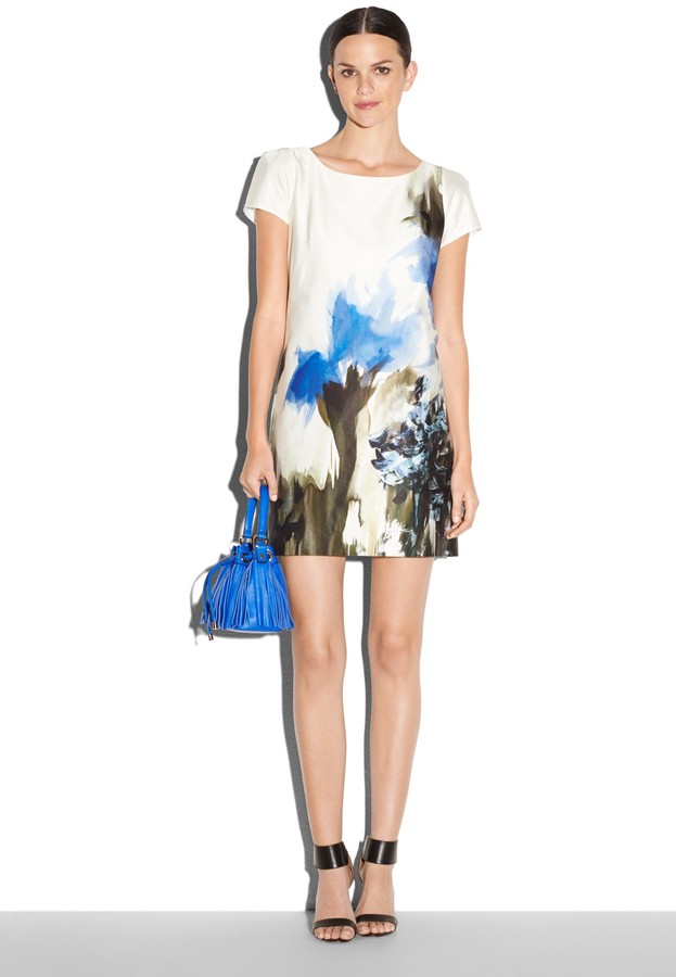 Milly Painted Fl Print Chloe Dress