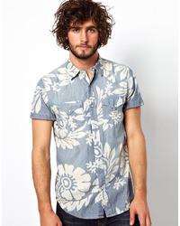 Denim & Supply Ralph Lauren Shirt With Floral Chambray