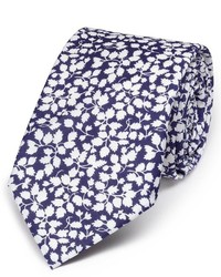 Charles Tyrwhitt Navy And White Cotton Luxury Italian Floral Slim Tie