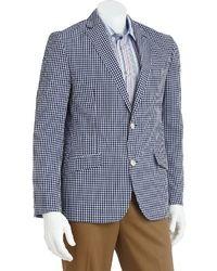 Studio slim fit gingham checked sport coat medium 21365
