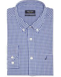 Nautica Blue Gingham Dress Shirt