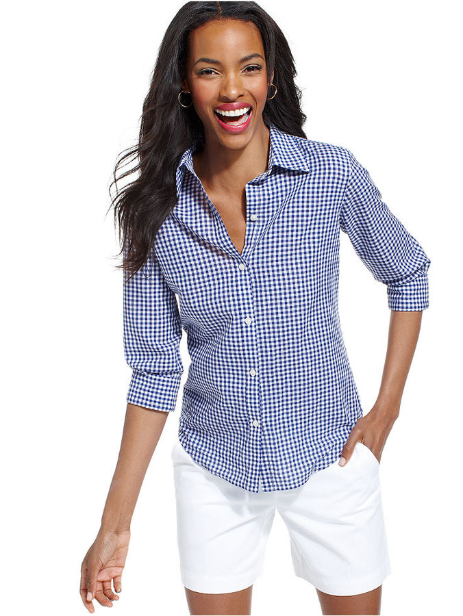 American Living Gingham Button Down Shirt | Where to buy & how to wear