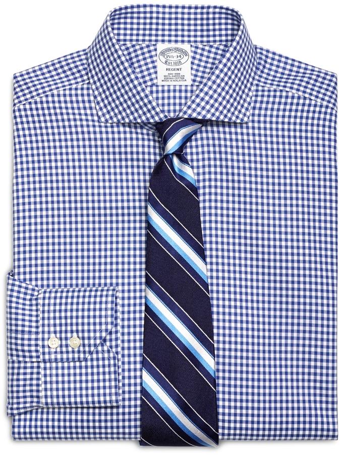 becb8e965c0 Brooks Brothers Non Iron Regent Fit Gingham Dress Shirt, $120 ...