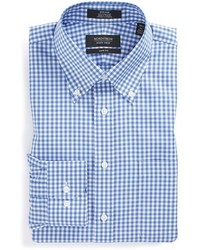 Shop trim fit non iron gingham dress shirt medium 201956