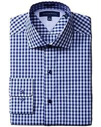 Men 39 s navy blazer white and blue gingham dress shirt for Tommy hilfiger gingham dress shirt