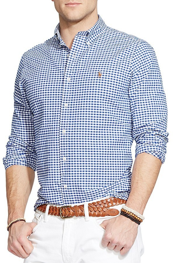 Polo Ralph Lauren Checked Oxford Button Down Shirt Classic Fit ...
