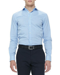 Ralph Lauren Black Label Gingham Check Sport Shirt Bluewhite
