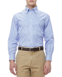 Peter Millar Gingham Sport Shirt Bluewhite