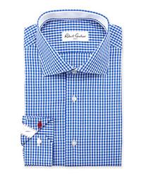 Robert Graham Jaylon Gingham Dress Shirt Blue