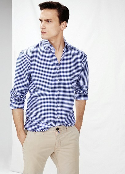 Mango Slim Fit Gingham Check Shirt Where To Buy How To