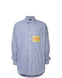 Martine Rose Patch Detail Checked Shirt