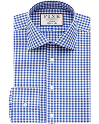 Thomas Pink Summers Check Classic Fit Button Cuff Shirt