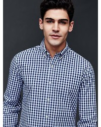 Gap True Wash Gingham Slim Fit Shirt