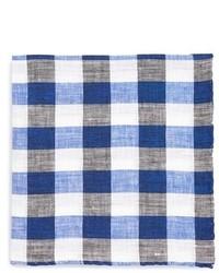 White label gingham linen pocket square medium 292678