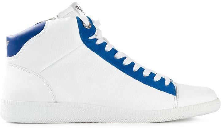 lace-up sneakers - White Emporio Armani sZP0Tx