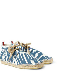 98d6a088c5 Asos Striped Espadrilles Out of stock · Hentsch Man Printed Canvas  Espadrille Desert Boots