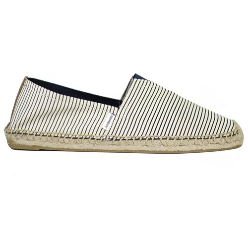 ecb027b094 ... JOY And MARIO Joy Mario Nautica Series Blue Pinstripes Canvas Casual  Flat Espadrille Shoes