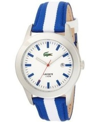 Lacoste Advantage White Dial Blue And White Strap Watch 2010500