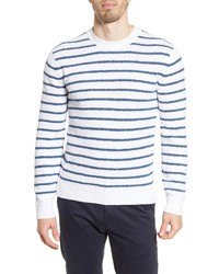 Faherty Beach Stripe Crewneck Sweater