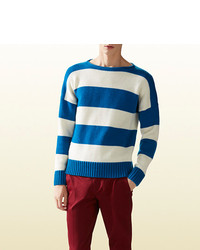 Gucci Striped Wool Cotton Sweater