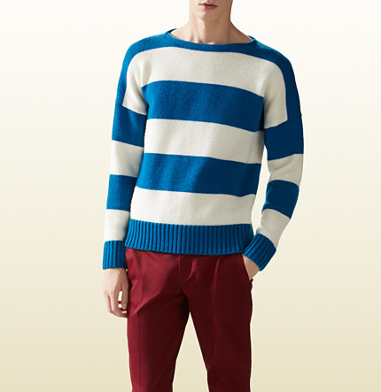 3d5af832131 ... Gucci Striped Wool Cotton Sweater ...