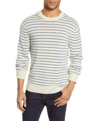 rag & bone Harlow Stripe Crewneck Wool Cashmere Sweater
