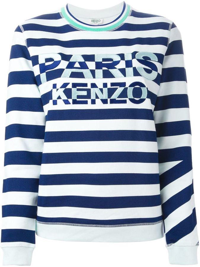 4116c4d30 Kenzo Paris Striped Sweatshirt, $263 | farfetch.com | Lookastic.com