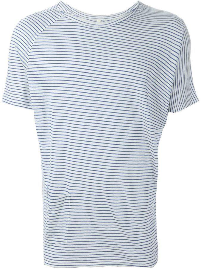 Forme Dexpression Striped Round Neck T Shirt