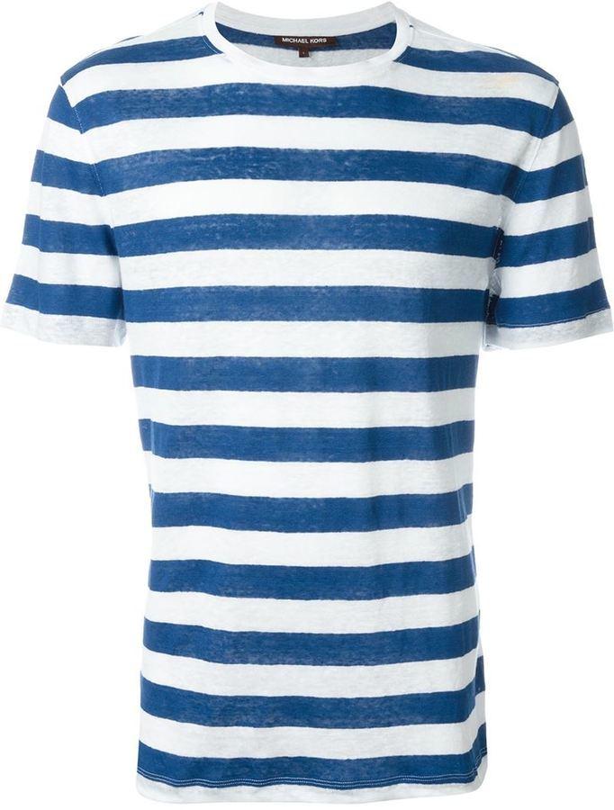 Michael Kors Michl Kors Striped T Shirt