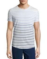 Orelebar Brown Orlebar Brown Gradient Stripe Short Sleeve T Shirt Whiteblue