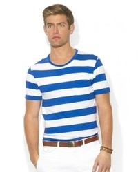 Ralph Lauren Polo Big And Tall T Shirt Crew Neck Short Sleeve Striped Jersey T Shirt