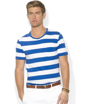 fd3ff67d5c03 ... Ralph Lauren Polo Big And Tall T Shirt Crew Neck Short Sleeve Striped  Jersey T Shirt