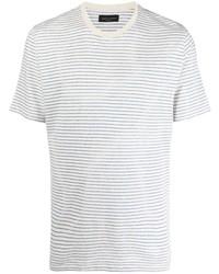 Roberto Collina Short Sleeved Striped T Shirt