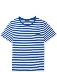 Slim fit striped cotton jersey t shirt medium 1292728