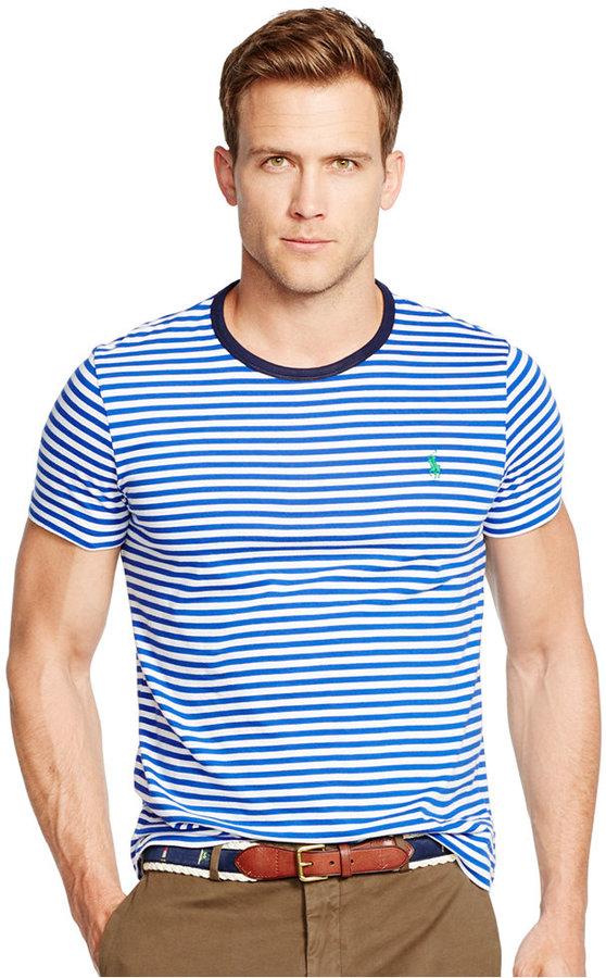 f90001f184 Polo Ralph Lauren Striped Crew Neck T Shirt, $49 | Macy's ...