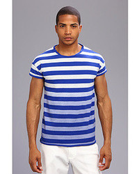 Scotch & Soda Sunfaded Striped Crewneck Tee