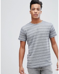 Solid T Shirt With Geo Stripe