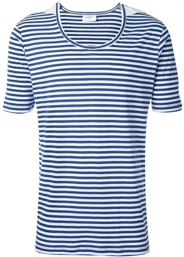 THE WHITE BRIEFS Striped T Shirt