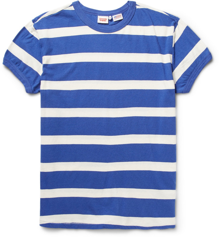 9eaa4fcd ... Levi's Vintage Clothing 1970s Striped Washed Cotton Jersey T Shirt ...