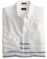 J.Crew Vintage Oxford Shirt In Horizontal Stripe