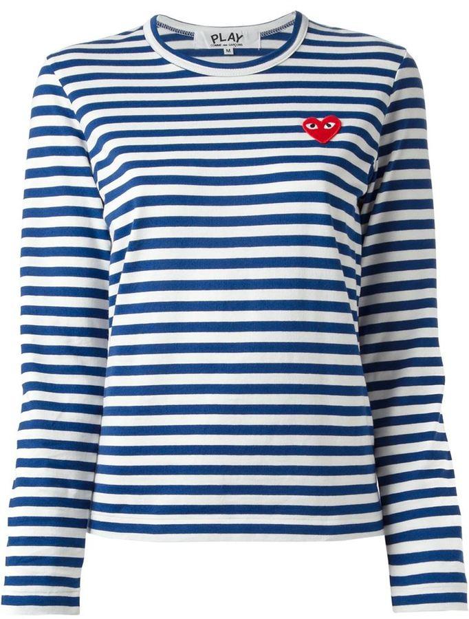Comme des Garcons Comme Des Garons Play Striped T Shirt | Where to ...