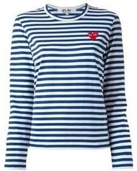 Comme des garons play striped t shirt medium 59398
