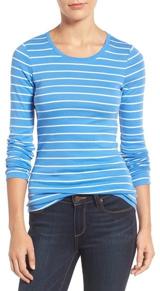 1b700417 ... and Blue Horizontal Striped Long Sleeve T-shirts Caslon Long Sleeve Scoop  Neck Cotton Tee ...