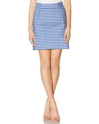 The Limited Striped Box Pleat Mini Skirt