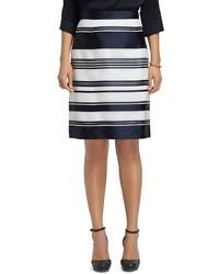 Brooks Brothers A Line Stripe Skirt
