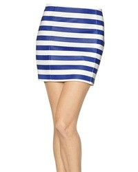 Drome Striped Nappa Leather Mini Skirt