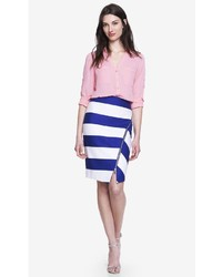 Express Asymmetrical Striped Pencil Skirt With Zipper | Where to ...