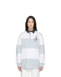 JW Anderson Blue And White Polo Rugby Polo