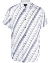 Emporio Armani Logo Stripe Short Sleeve Shirt